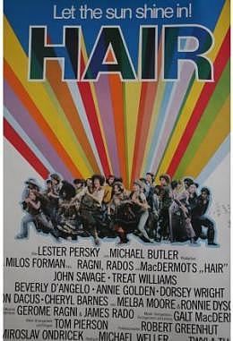 Hair - Motiv B mit Autogramm von Milos Forman