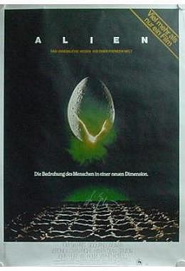Alien mit Autogramm von H.R.Giger