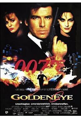 James Bond 007 - GoldenEye - deutsch A1 Motiv gefaltet